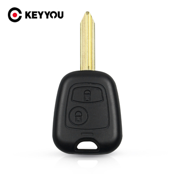 KEYYOU Key Shell Case For Citroen Xsara Picasso Berlingo 2002 2003 2004 2005 2006 2007 2008 2 Buttons Remote Key Fob Cover image