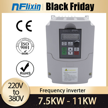 7.5KW/11kw 220V to 380V VFD Variable Frequency Drive Inverter for Motor Speed Control Converter image