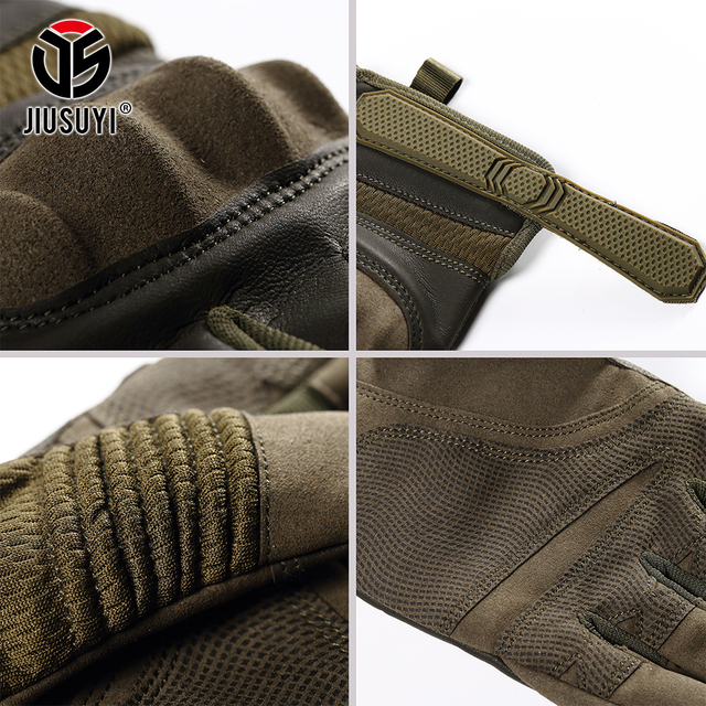 Tactical Military Full Finger Gloves Touch Screen Airsoft Combat Paintball Shooting Hard Knuckle Armor Bicycle Driving Glove Men 5