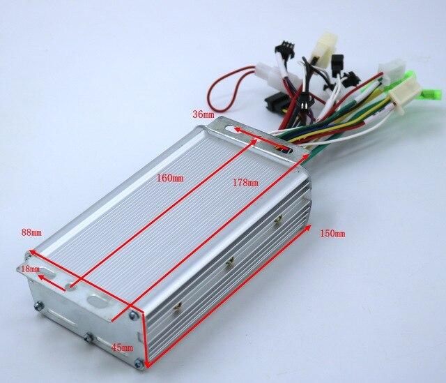 GREENTIME 24V/36V/48V/60V 500/600W BLDC contrôleur de moteur e-bike brushless pilote de vitesse et GT-100 écran LCD un ensemble