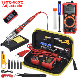 Image 1 - JCD Soldering iron kit with Digital Multimeter Auto Ranging 6000 counts AC/DC 80W 220V Adjustable Temperature welding solder tip