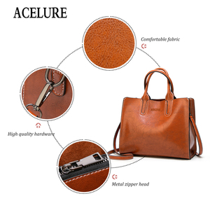 Image 3 - ACELURE Women Shoulder Bag Female Causal Totes for Daily Shopping All Purpose High Quality Dames Handbag Leather Bags for Women