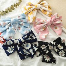 2019 New Quality Big Large Girls Hair Bow Broken Flower 3 Layers Chiffon Barrette Clips Women Ponytail Accessories