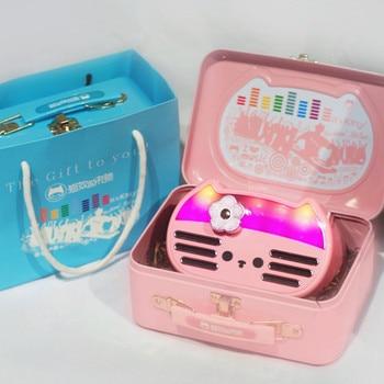 New Japan Hello Kitty it's kitty Wireless Bluetooth speaker Pink & Blue lighting Music player for girl gift box
