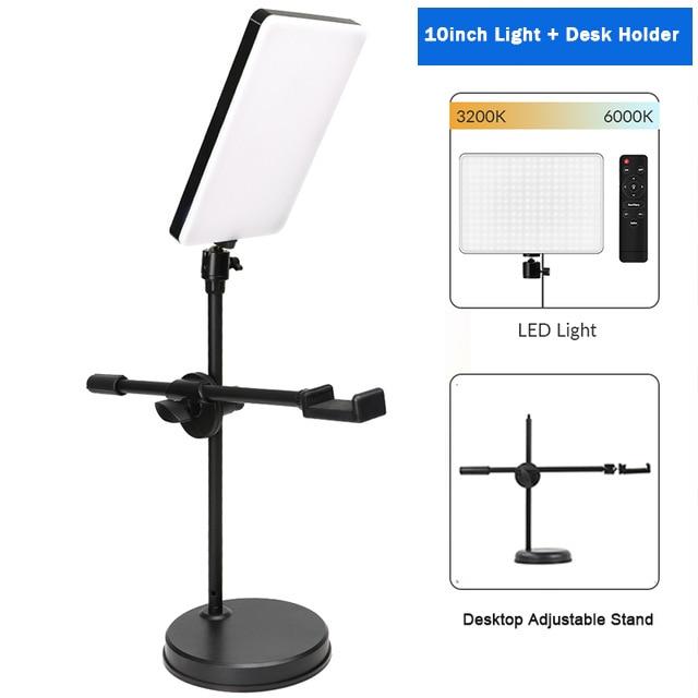Hf1858e41ee654417b9747b42429a5ac33 Dimmable LED Video Light Panel EU Plug 2700k-5700k Photography Lighting For Live Stream Photo Studio Fill Lamp Three Color