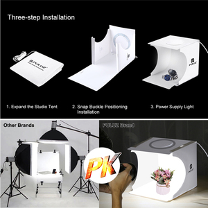 Image 5 - New Arriver Mini Folding LED Ring Light CT Adjustable Dimmable Mini Photo Studio Set 20CM Portable Photography Light Box Tent