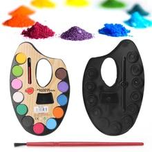 Artist Palette Paints-Set 12-Color Pigment-Powder Textile Hand-Wall Professional