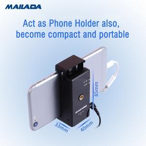 Image 2 - Mailada Vlog Gehen UHF Kondensator Drahtlose Mikrofon System Video Aufnahme Lavalier Revers Mic für iPhone Android DSLR pk Ritt