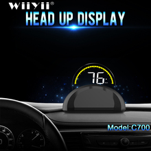 C700 &C700S OBD2 Car GPS HUD Head Up Display With Mirror Digital Projection Car Overspeed Alarm Security Warning System