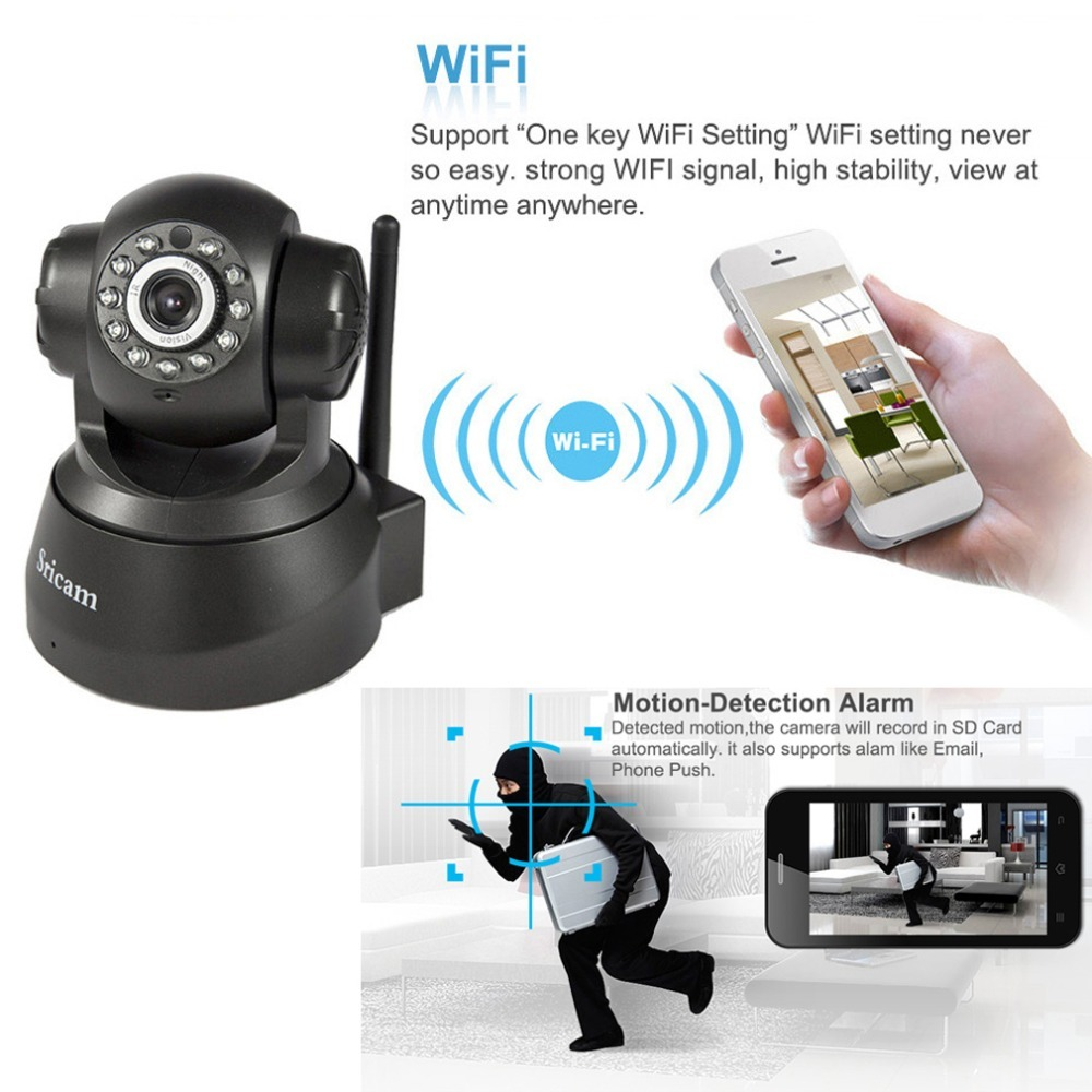 Sricam SP012 720P IP Camera Wireless WIFI Home Security baby monitor Onvif P2P Phone Remote 1.0MP Video Surveillance Camera CCTV