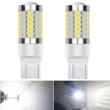 2x Светодиодный светильник T20 7443 W21W 1156 BA15S P21W Canbus без ошибок, автомобильная лампа заднего хода, лампы стоп сигнала 3157 3156 3047 белый