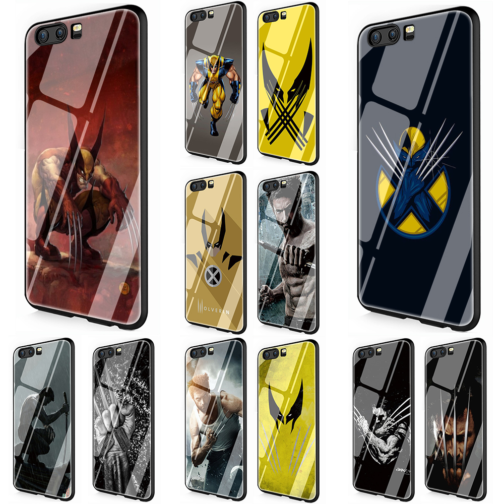 <font><b>Marvel</b></font> Hero Wolverine Tempered Glass <font><b>Phone</b></font> Cover <font><b>Case</b></font> for Huawei P10 P20 P30 Y6 Y9 Honor 8X 7A pro 9 10 Lite Mate 20 Lite Pro image