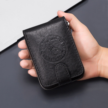Litthing Small Cards Pack Cash Pocket Leather Card Wallet Men Business Bank Card Holder Thin Credit Card Case Convenient