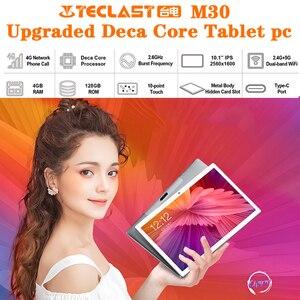 Image 2 - Teclast tablette PC de 10.1 pouces M30 Deca Core, avec téléphone, double 4G, écran 2560x1600, 2.5k, 4 go de RAM, 128 go de ROM, MT6797 X27, GPS, Android 8.0