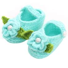0 to 18 Months Baby Girls Shoes Handmade First Walkers Newborn Baby Infant Boys Girls Crochet Knit Toddler Shoes(China)