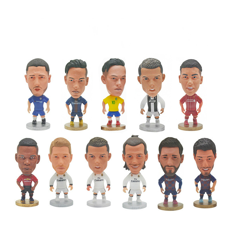 Soccerwe Football Star Dolls JUV 7 Cristiano Ronaldo 2020 Season Figurine For Souvenir Gift White Black Kit 2020 Hot Sale
