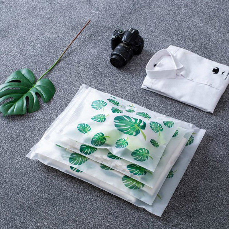 Transparent Plant Storage Bag Travel Makeup Case Women Zipper  Storage Pouch Toiletry Wash Kit Beauty Bath Box Makeup Bags