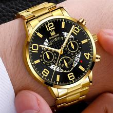 Men's Business Watch Luxury Stainless Steel Strap Casual Waterproof Quartz Watches Men Date Calendar Display Wrist Watch Clock цена и фото