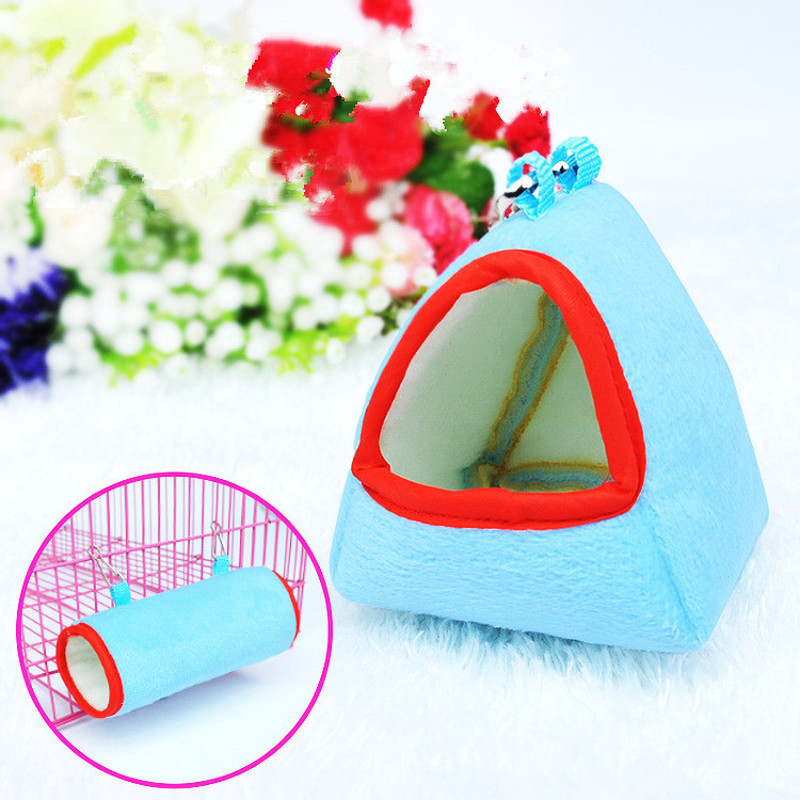 1pc Hammock Cage Hamster Hanging House Sleeping Nest Pet Bed Rat Hamster Toys Cages Swing Pet Banana design Small Animals(China)