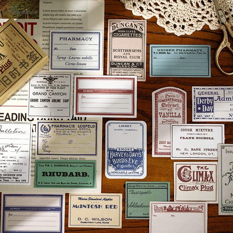 XINAHER 60 pçs/caixa Recordar o passado da série Do Vintage etiqueta de papel autocolantes decoração diário DIY etiqueta scrapbooking adesivo