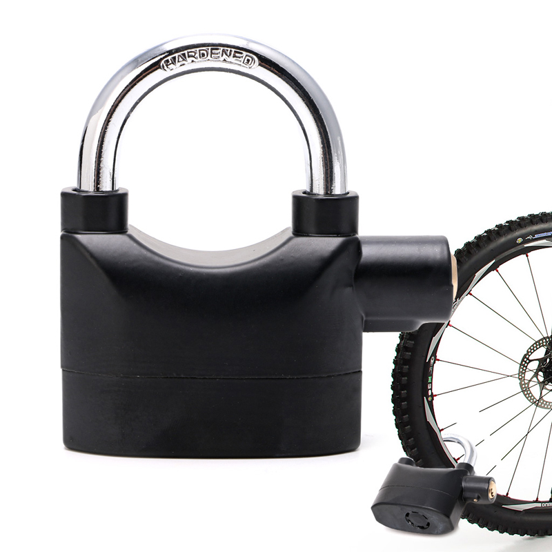 HEAVY-DUTY Anti Theft ALARM PADLOCK Siren Bike Bicycle Gate LOCK *NEW*