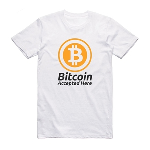 Bitcoin Accepted Here Crypto Currency T Shirt Btc Privacy Trading Lambo Moon Tee Shirt Short Sleeve Fashion(China)