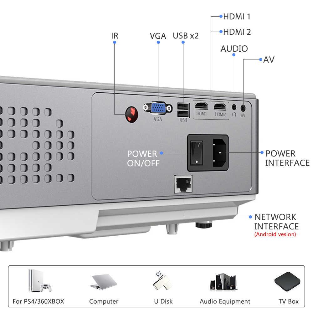ThundeaL Full HD natywny projektor 1080P TD96 TD96W projektor LED bezprzewodowy WiFi Android wieloekranowy projektor wideo 3D