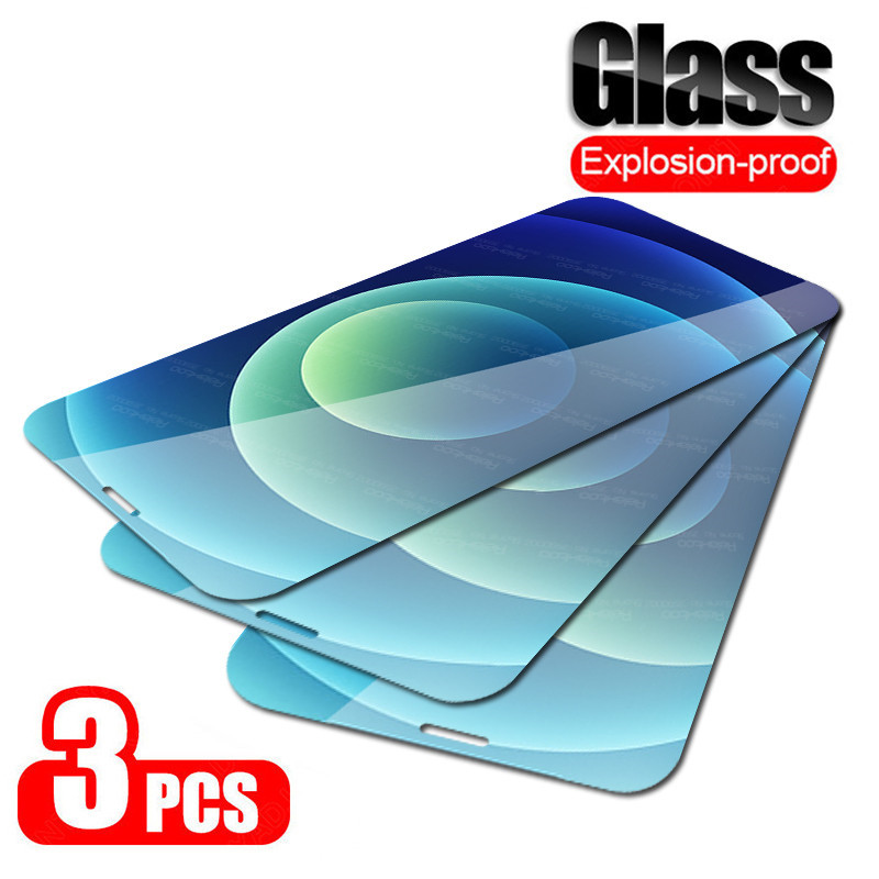 3Pcs For Iphone 12 Mini Glass Screen Protector For Apple Iphone12 11 Pro Max X XS XR 6 6s 7 8 Plus SE 2020 Cover Protective Film