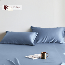 Liv-Esthete 2020 Luxury Noble Blue100% Silk Pillowcase Nature 25 Momme Silk Multicolor Standard Pillow Case Adult Free Shipping