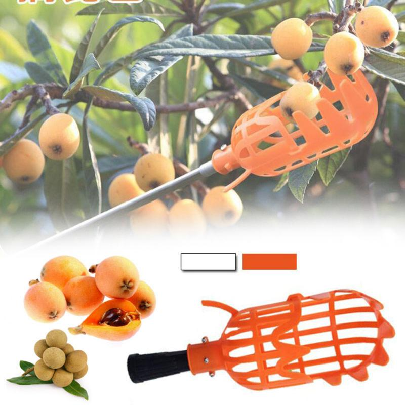 Practical Orange Plastic Fruit Picker Without Pole Fruit Catcher Gardening Farm Garden Picking Tool