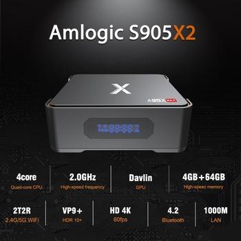 5 sztuk partia dhl bezpłatne A95X MAX Android TV Box 4G 64G Android 8 1 TV Box Amlogic S905X2 2 4G 5G podwójny Wifi BT4 2 1000M odtwarzacz multimedialny tanie i dobre opinie ELEDVB 100 M CN (pochodzenie) Procesor Amlogic S905X2 Quad-core 64-bit 64 GB eMMC HDMI 2 0 4G DDR3 0 5kg DC 5 V 2A Karty TF Do 64 GB
