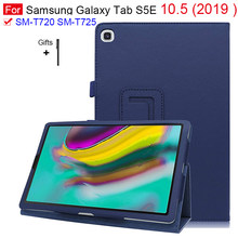 Couro do plutônio caso inteligente para samsung galaxy tab s5e 10.5 t720 t725 awake/sleep capa funda para tab s5e SM-T720 SM-T725