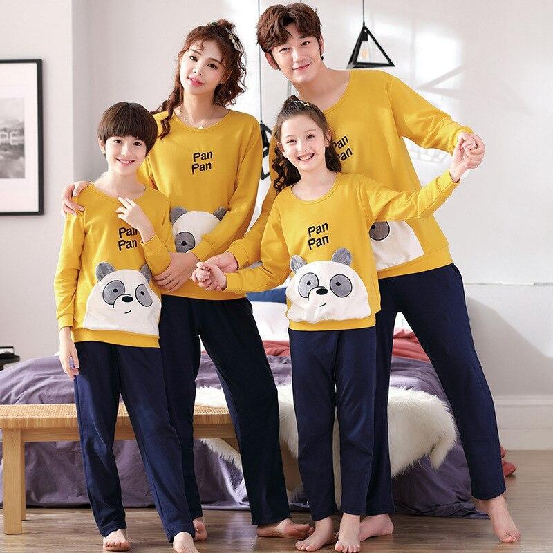 Family Matching Pajamas Set Father Son Night Wear Romper Cotton Pajamas Mother Daughter Clothes Pyjamas 3