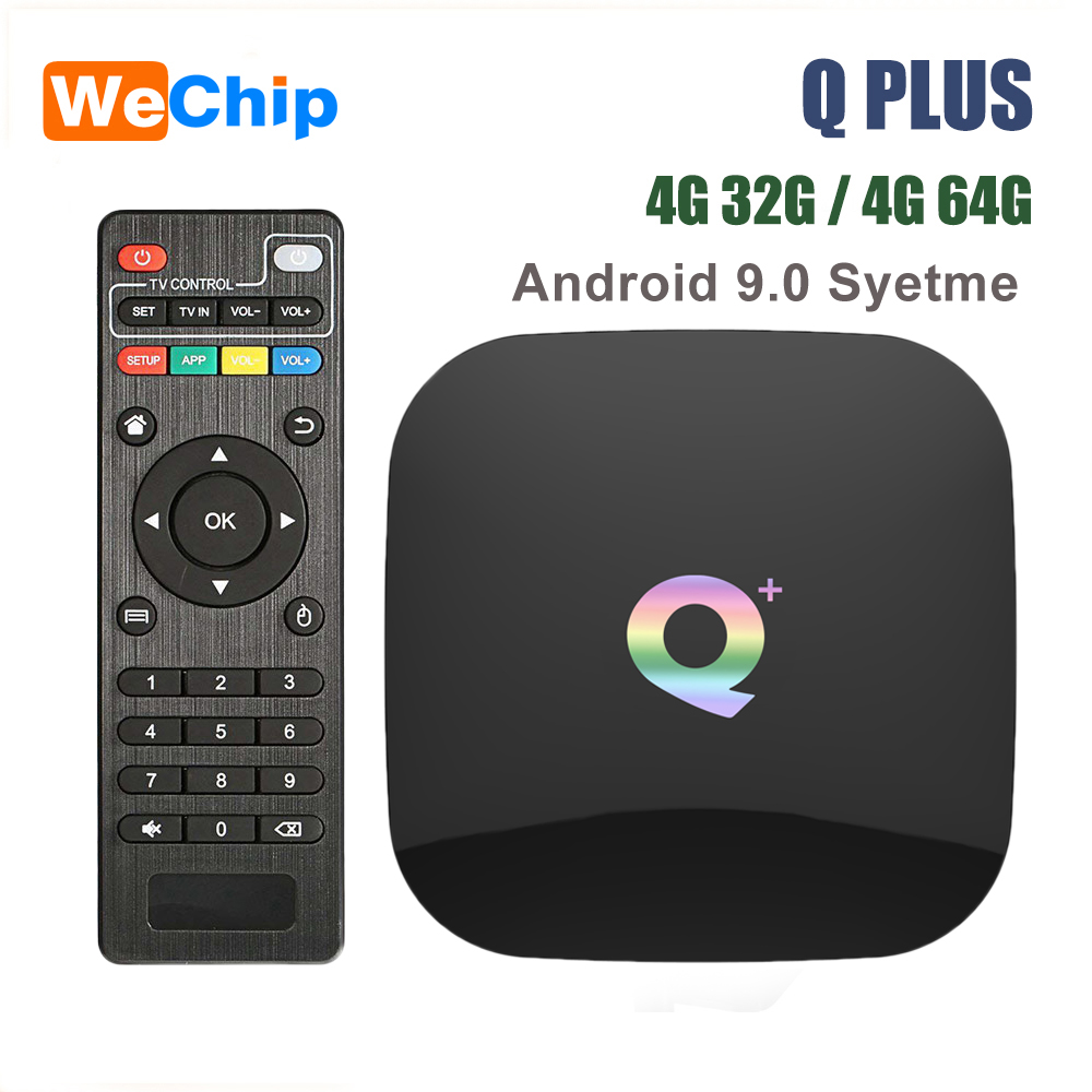 Smart Android 9.0 TV Box Q Plus 4GB 64GB Allwinner H6 4GB 32GB 1080P H.265 4K Media Player 2.4G Wifi Wireless Q+ Set Top Box