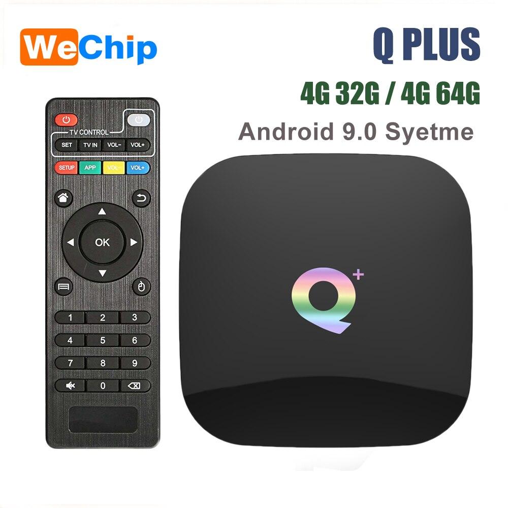 Smart Android 9.0 TV Box Q plus 4GB 64GB Allwinner H6 4GB 32GB 1080P H.265 4K Media Player 2,4G Wifi Drahtlose Q + Set Top Box