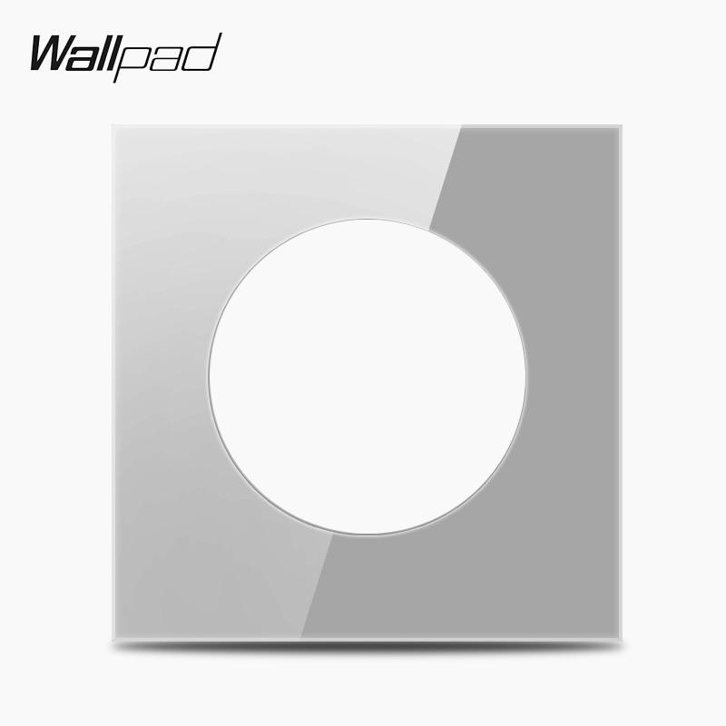 Placa de Panel de vidrio simple gris L6 DIY para interruptor Combinación libre, 86*86mm Plegable 20W USB Panel Solar portátil plegable impermeable cargador de Panel Solar cargador de batería móvil