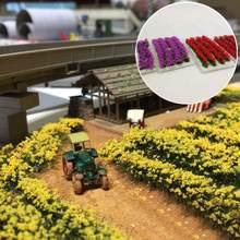Ramo de flores artificiales de una hoja, modelo de paisaje ferroviario, juego de guerra, PJ07
