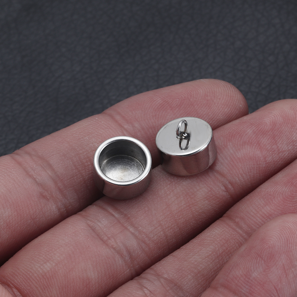 20Pcs Carved Pattern End Cap Bell Slider Stopper for 2mm Leather Cord Bracelet