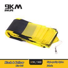 30m/98ft KITE TUBE TAIL For Delta Kite/Stunt /Software Kites Flying Toys Black & Yellow Nylon Kite Outdoor Accessories недорого