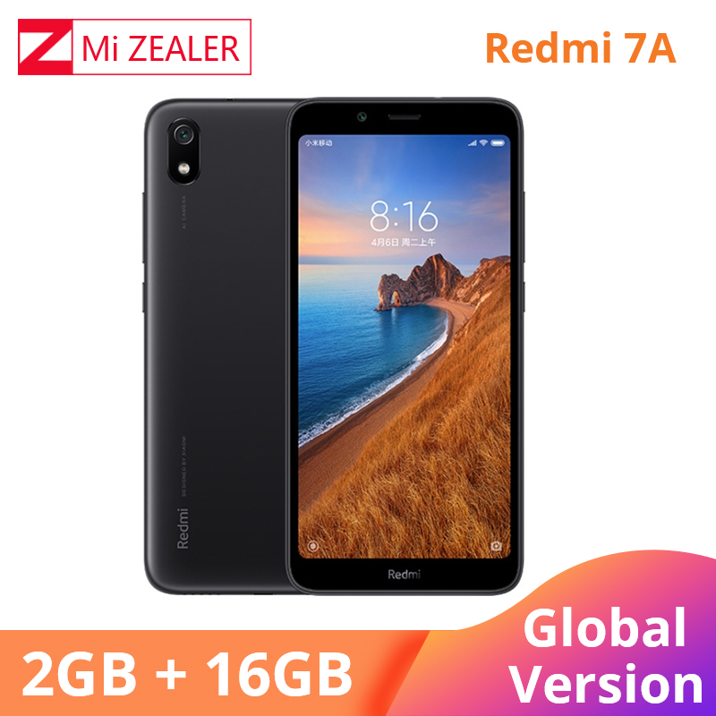 Global Version Original Redmi 7A Mobile Phone 2GB 16GB Smartphone Snapdargon 439 Octa core 5.45 4000mAh Battery