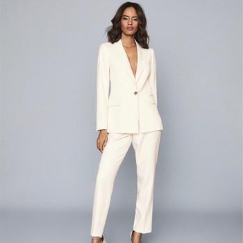 Damskie panrts garnitury nowy nabytek moda damska temperament wąskie garnitury kobiet blazers zestaw kurtka spodnie garnitury wysoka jakość tanie i dobre opinie auguswu CN (pochodzenie) Na wiosnę jesień POLIESTER Na co dzień Z KIESZENIAMI POLIESTER BAWEŁNA Cotton blended 71 (włącznie)-80 (włącznie)