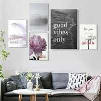 Soft Colour Quotes Poster And Prints Wall Art Canvas Paintings Wall Pictures Home Decor