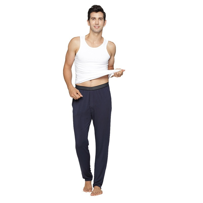 Free Shipping,plus Size Mens Brand Winter Sleeping Bottoms.homme Autumn Home Long Pants,modal.quality Soft Gift 50-100kgs