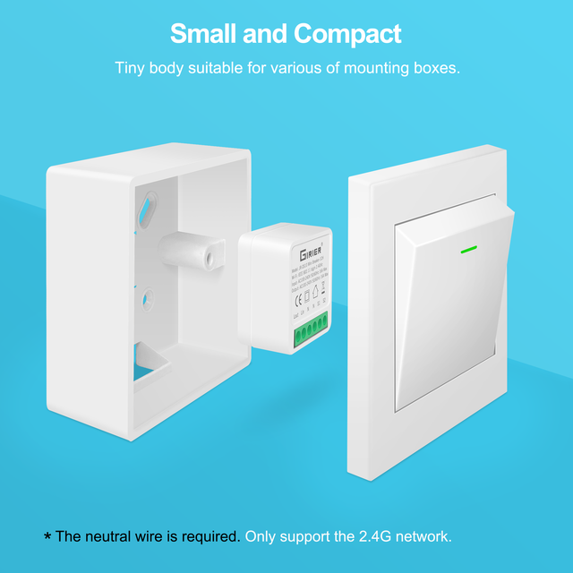16A Mini Smart Wifi DIY Switch Supports 2 Way Control, Smart Home Automation Module, Works with Alexa Google Home Smart Life App 4