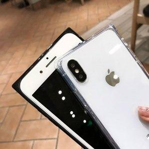 Image 5 - 4 Gasbag açılan geçirmez yumuşak iphone için kılıf xs MAX XR X 10 7 8 artı 6 6s temizle TPU silikon şeker Anti vuruş telefon kapak