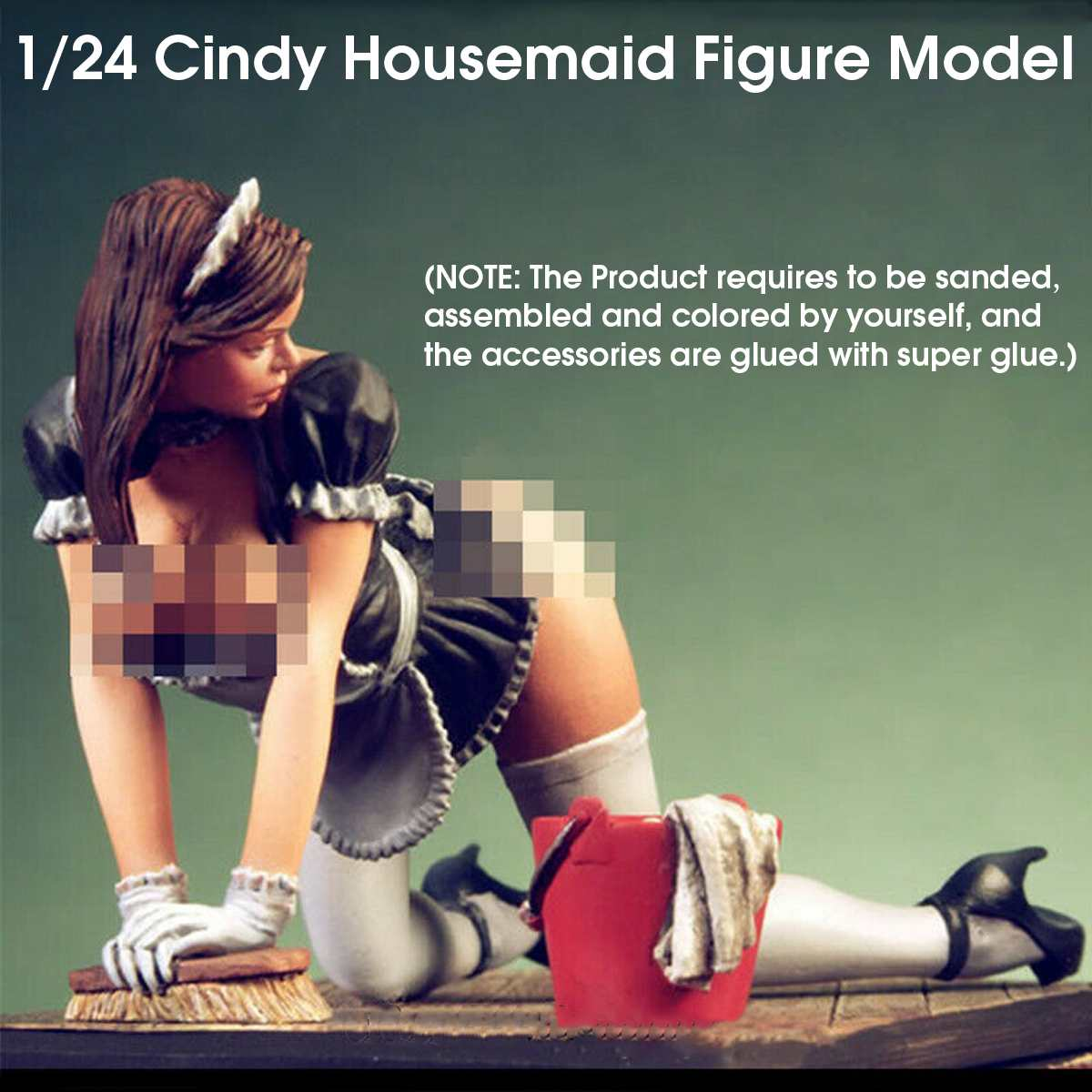 NEW <font><b>1/24</b></font> Scale Cindy Housemaid Cindy Maid Figure <font><b>Resin</b></font> <font><b>Model</b></font> Figure Static <font><b>Model</b></font> <font><b>Kits</b></font> Unpainted Unassembled image