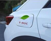 Carro-tampas abs chrome tanque de combustível capa do tanque de gás guarnição para volkswagen t-roc 2018 2019 estilo do carro
