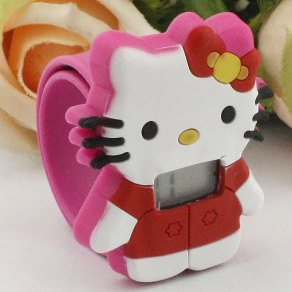 Cartoon Hello Kitty Girl Favorite KT Cat Electronic Patting Watch