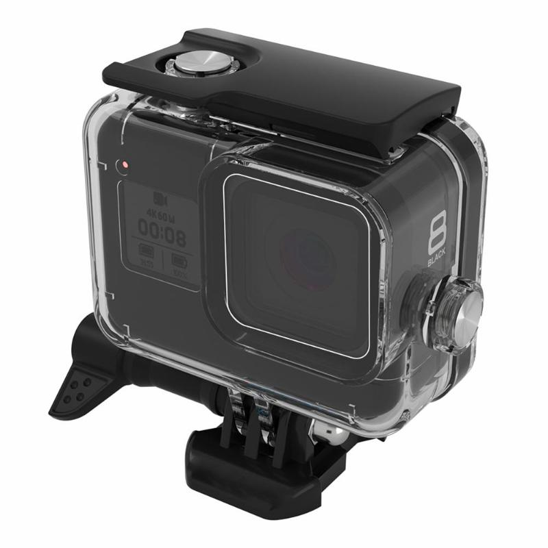 Dive Housing Fits GoPro HERO 8 Waterproof Case Underwater 60M Lens Filter Set