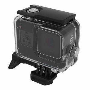 Image 4 - 60m boîtier étanche sous marin pour GoPro Hero 8 coque de protection boîtier noir caméra lentille filtres 60M plongée natation ensemble